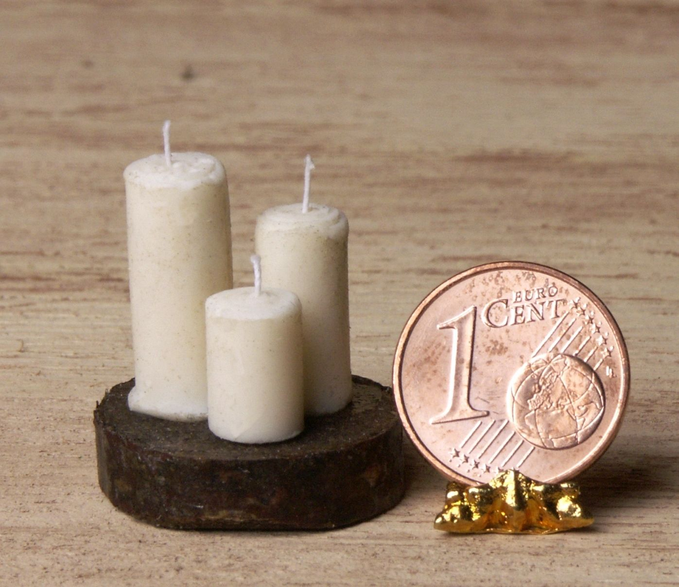 Rustical Miniature Candle Set for Your Dollhouse by DinkyWorld on Etsy