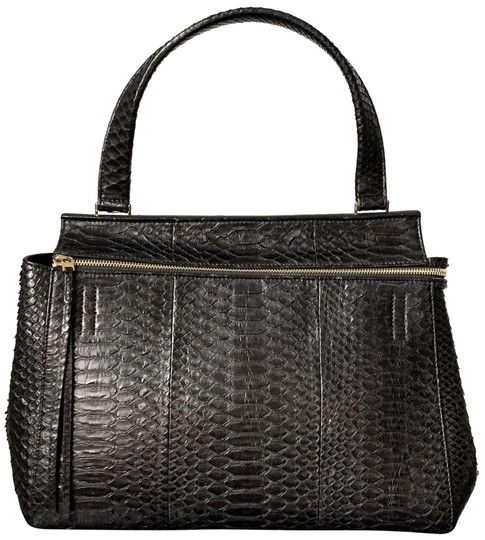 Céline Edge Medium Black Snakeskin Leather Shoulder Bag 70% off ... 2930ba859a4da