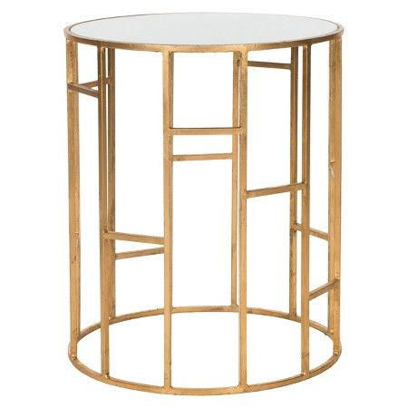 Louise Chairside End Table Grey/Brown - Steve Silver Co. : Target