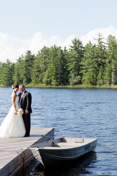 Lake wedding - only with groom not dad