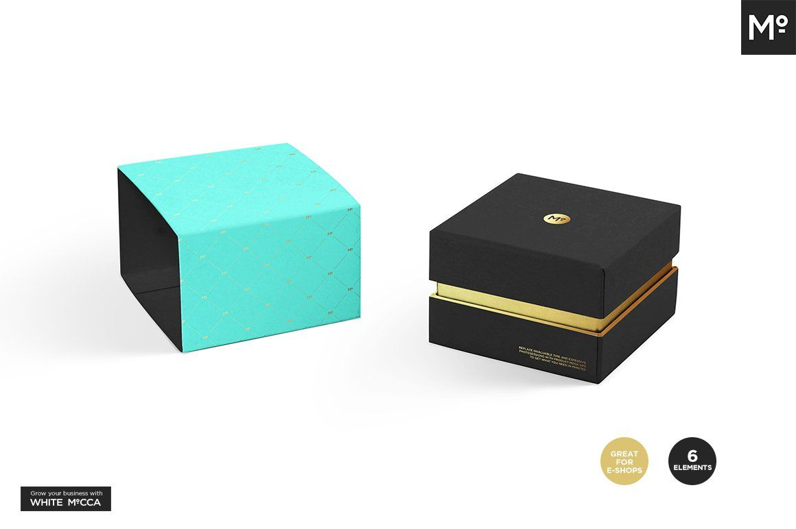 Download Jewelry Box Sets Mock Up Simple Business Cards Mockup Color Picker