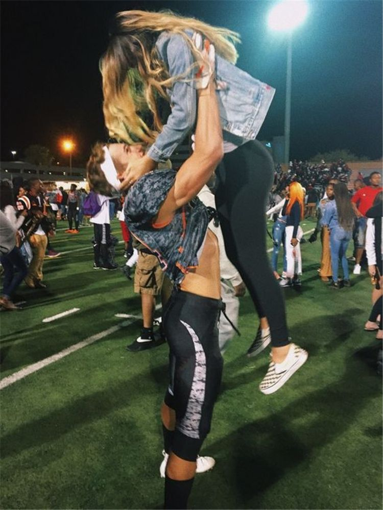 40 perfect football player and cheerleader couple pictures