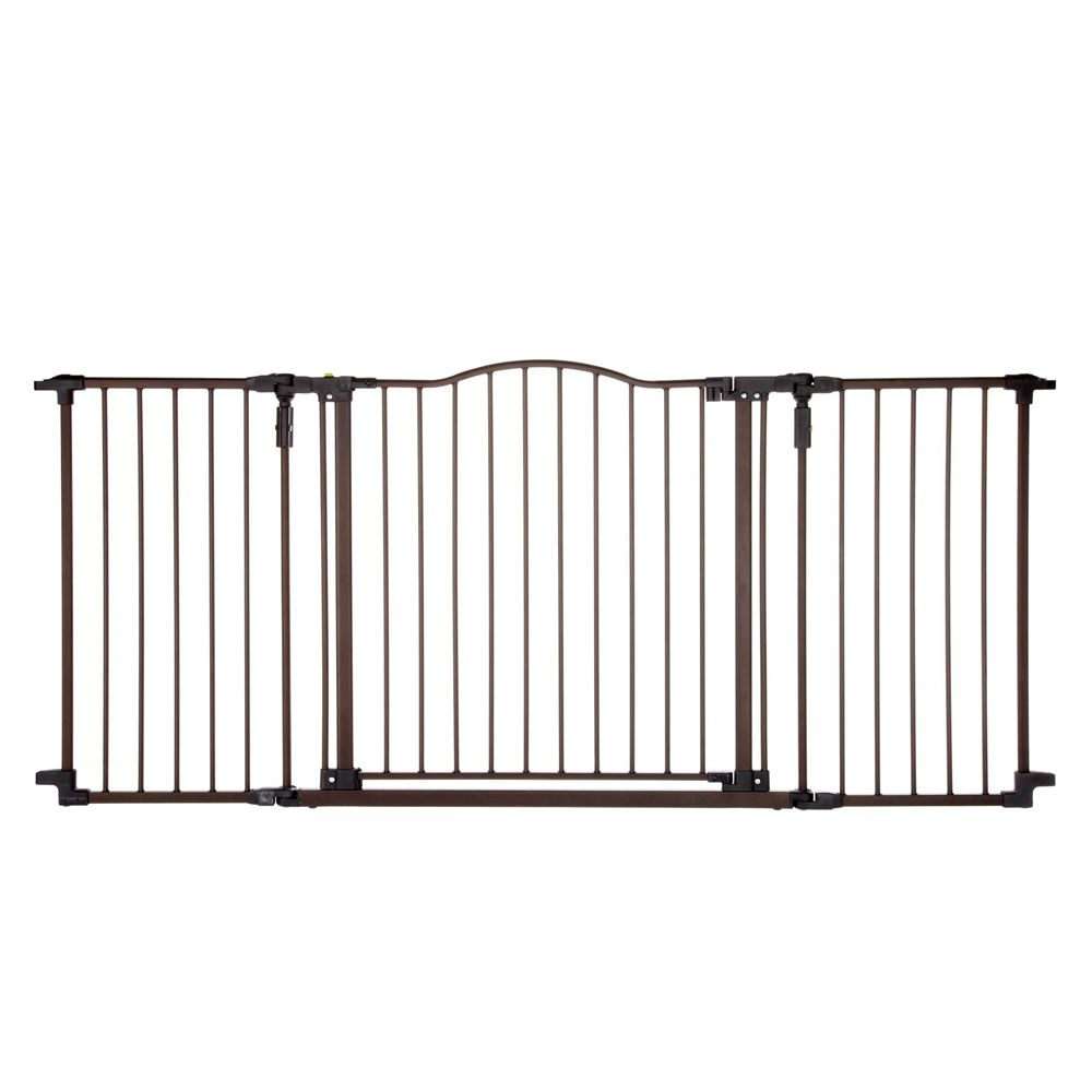 North States Windsor Extra Wide Arch Pet Gate Baby Safety Gate Pet Gate Dog Gate Outdoor pet gate extra wide