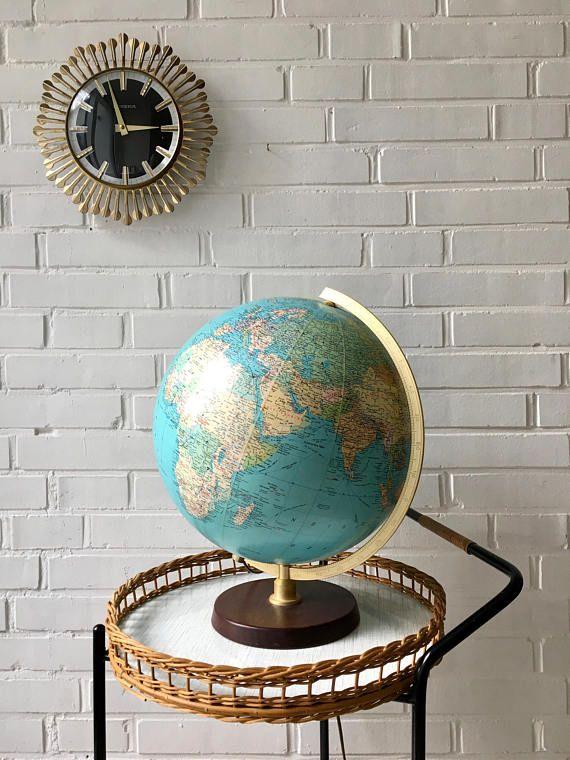 Vintage Globe Illuminated Mid Century World Globe Jro Publisher