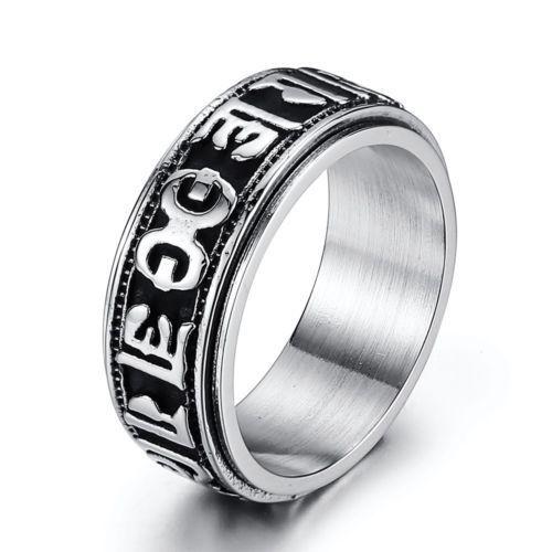 5847c6d3954 316L Stainless steel steam men punk ring gothic rings cool skull Men s  Jewelry s