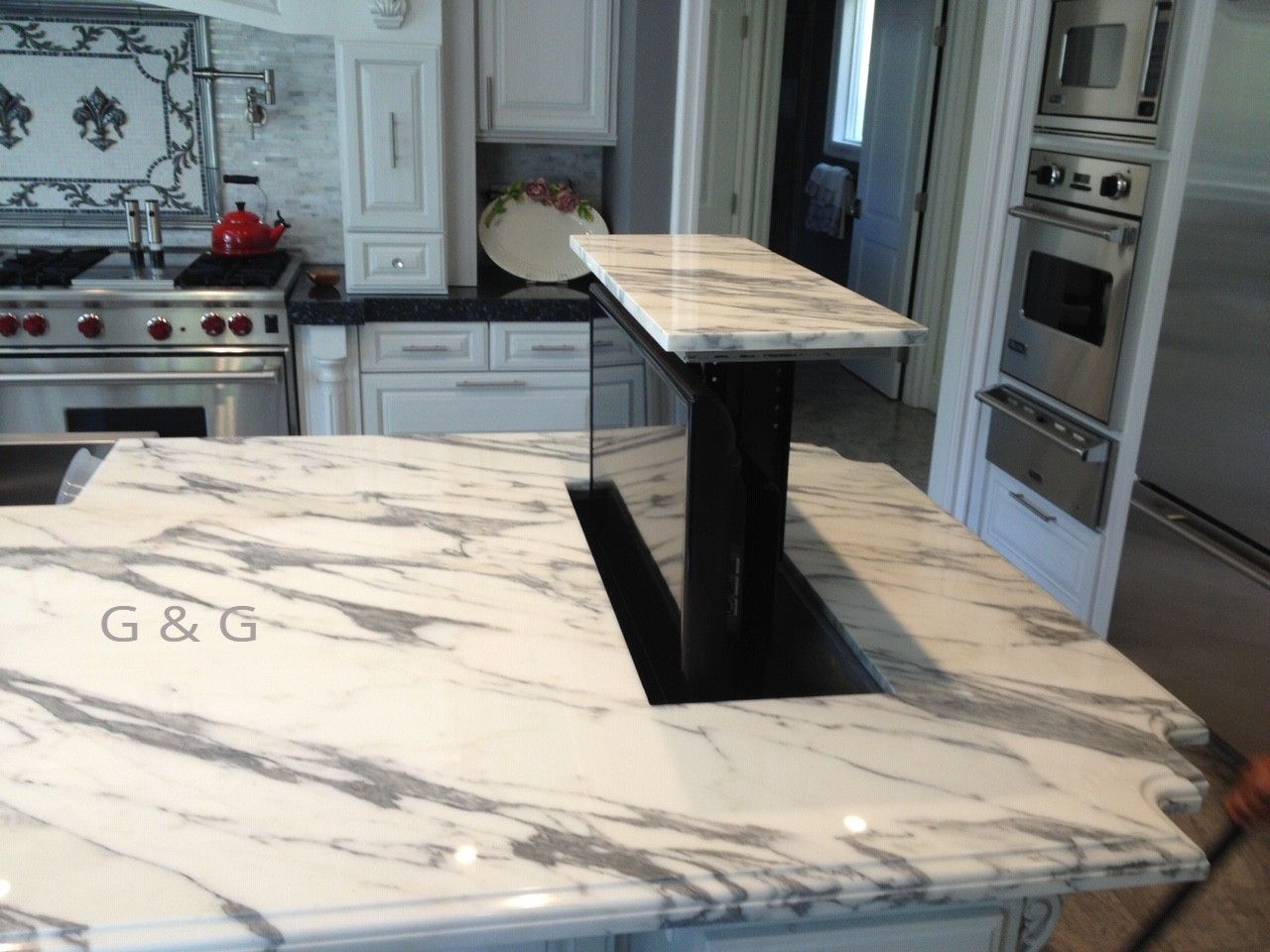 Kitchen Remodel Project With White Marble White Marble