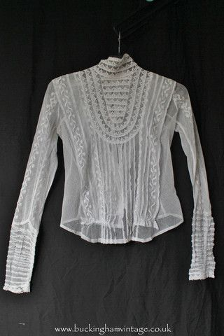 Vintage Lace Blouses Uk 86