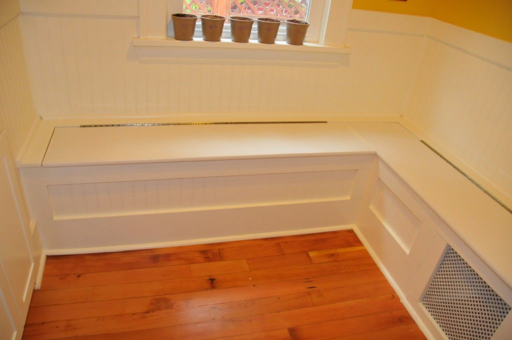 Diy Custom Kitchen Nook Storage Benches Simple But Nice Looking