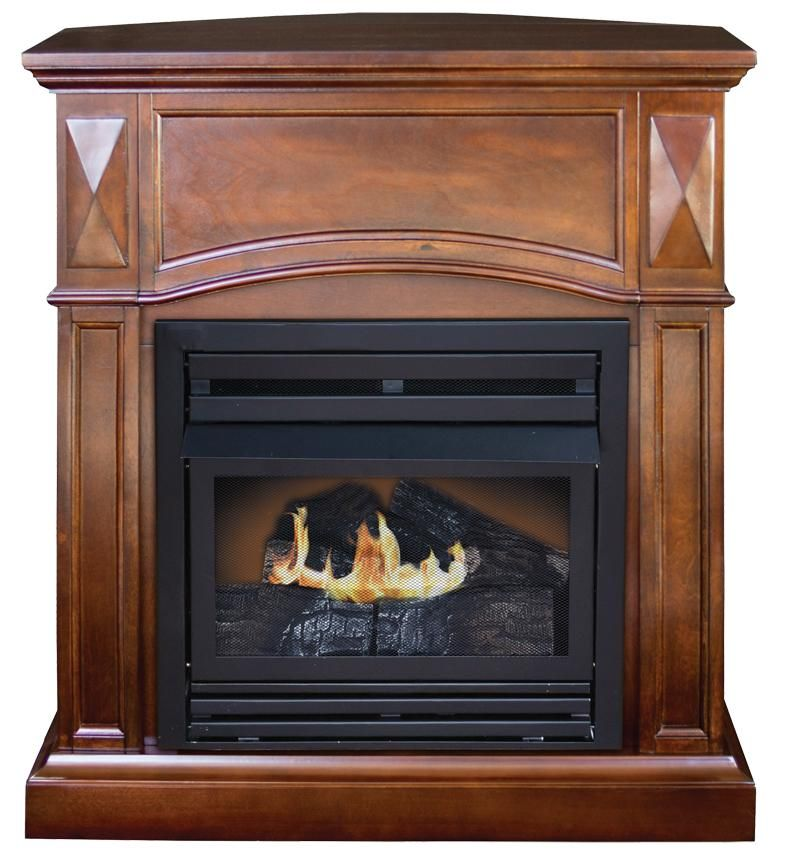 The Belmont Fireplace Ventless natural gas fireplace