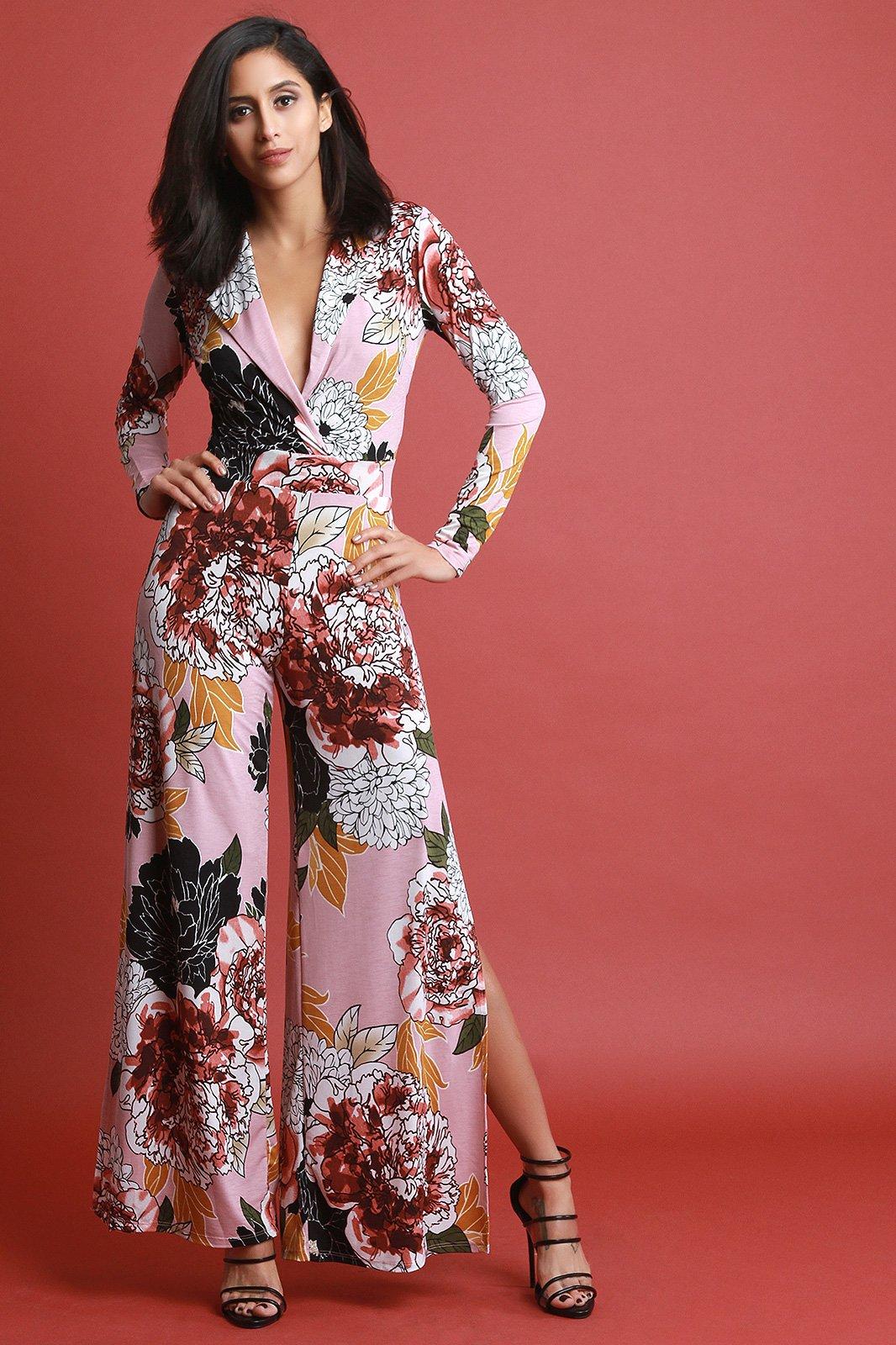 8c678e7b2da1 Peony Side Slit Jumpsuit  stylishoutfit  casualdress