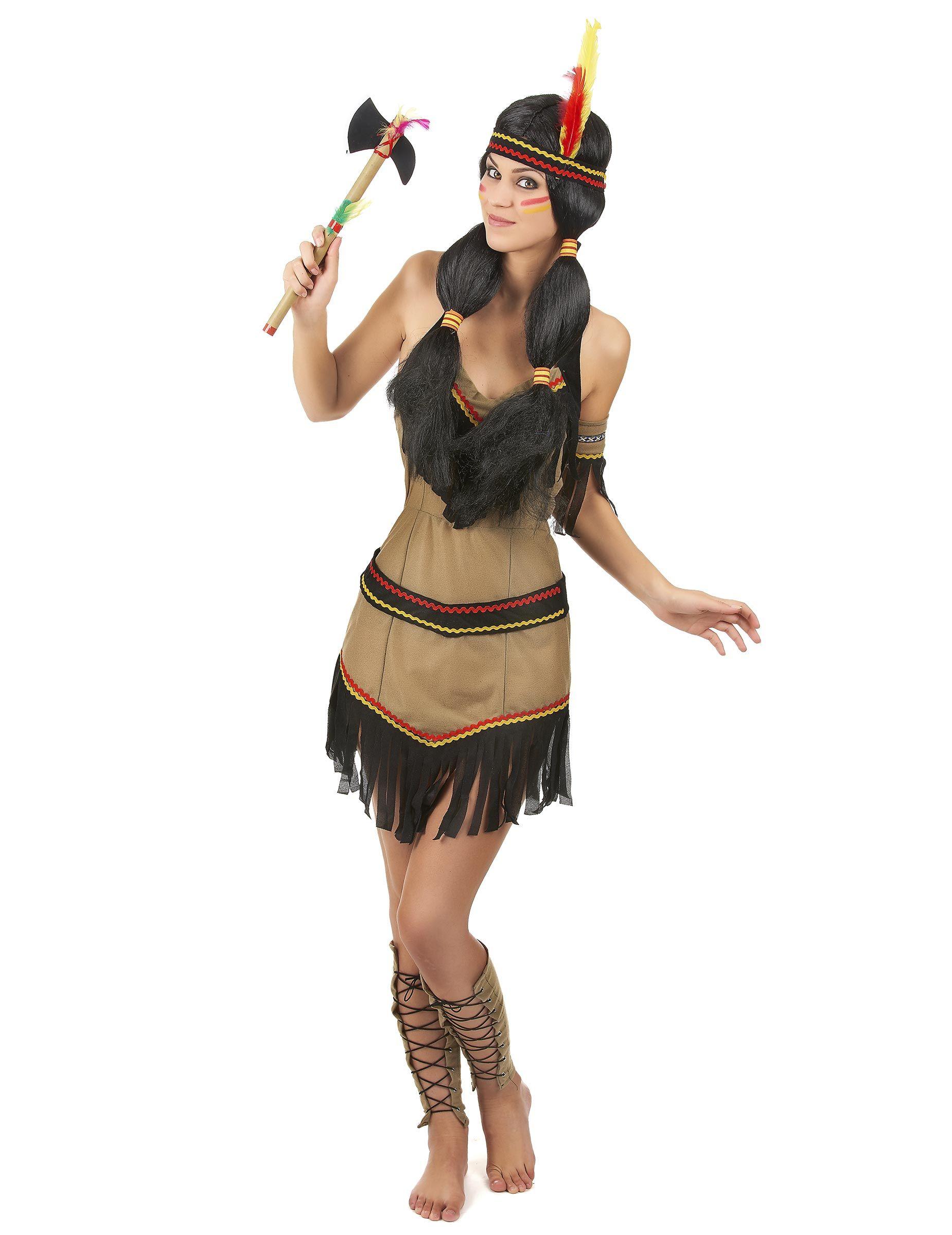 Native American Indian Donna Costume Western Vestito Da Donna Costume per adulti