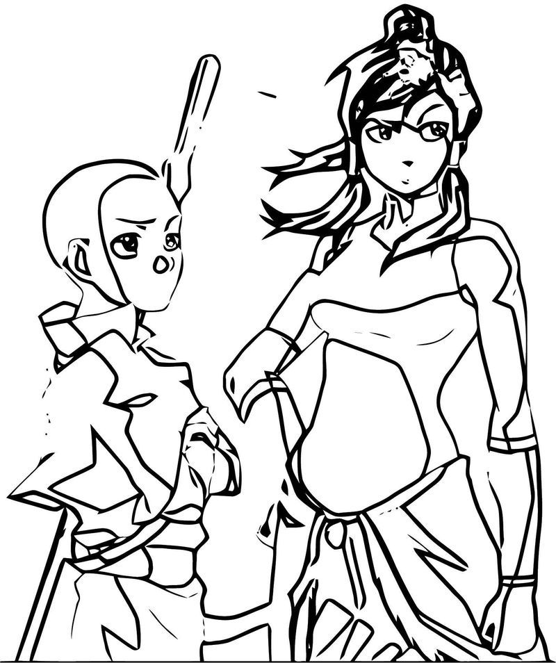 Aang Korra Avatar Aang Coloring Page in 2020 Aang, Korra