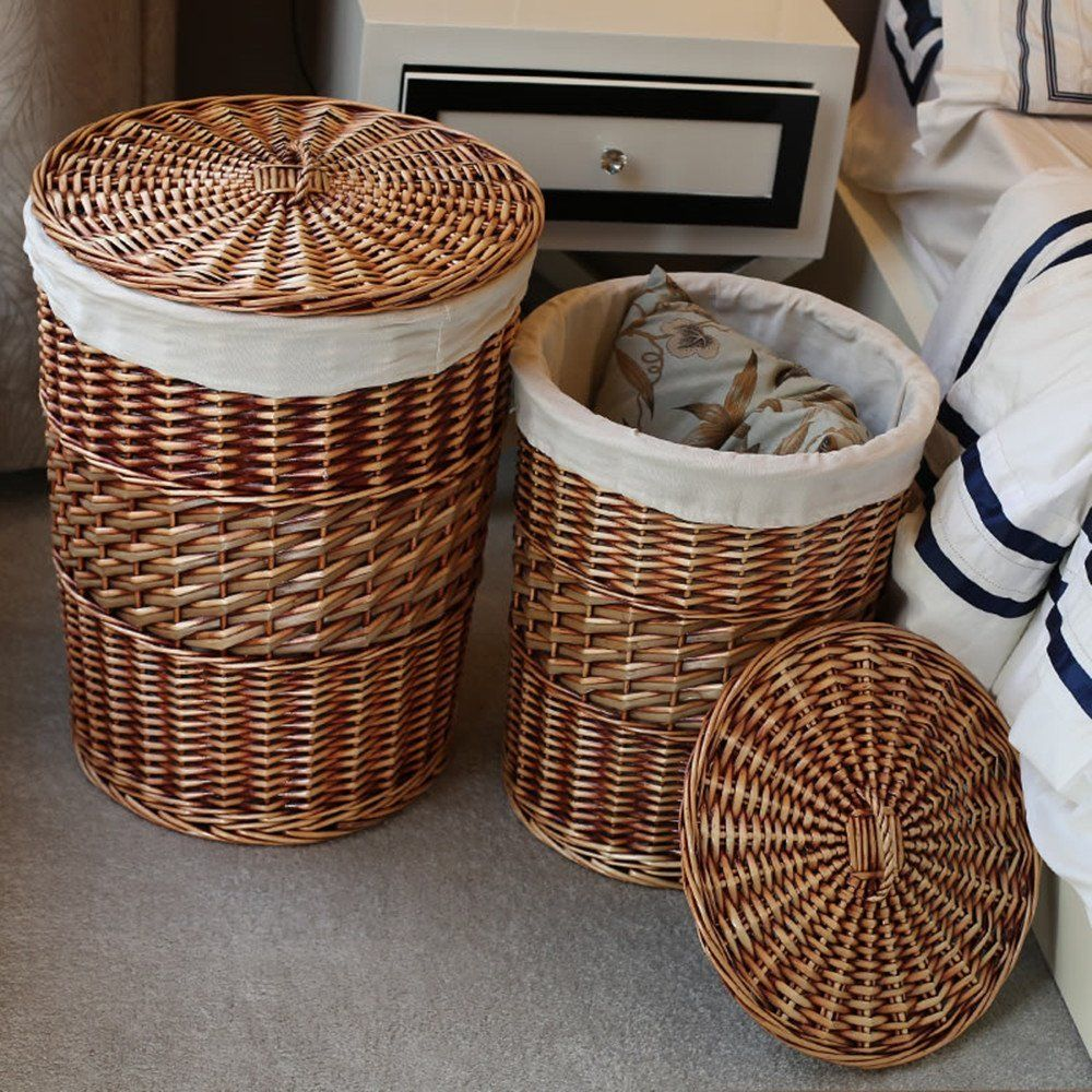 Amazon Com Kingwillow Laundry Hamper Handmade Woven Wicker Amp