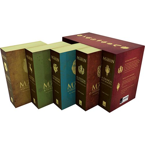 Livro Box As Cronicas De Gelo E Fogo Edicao As Cronicas De