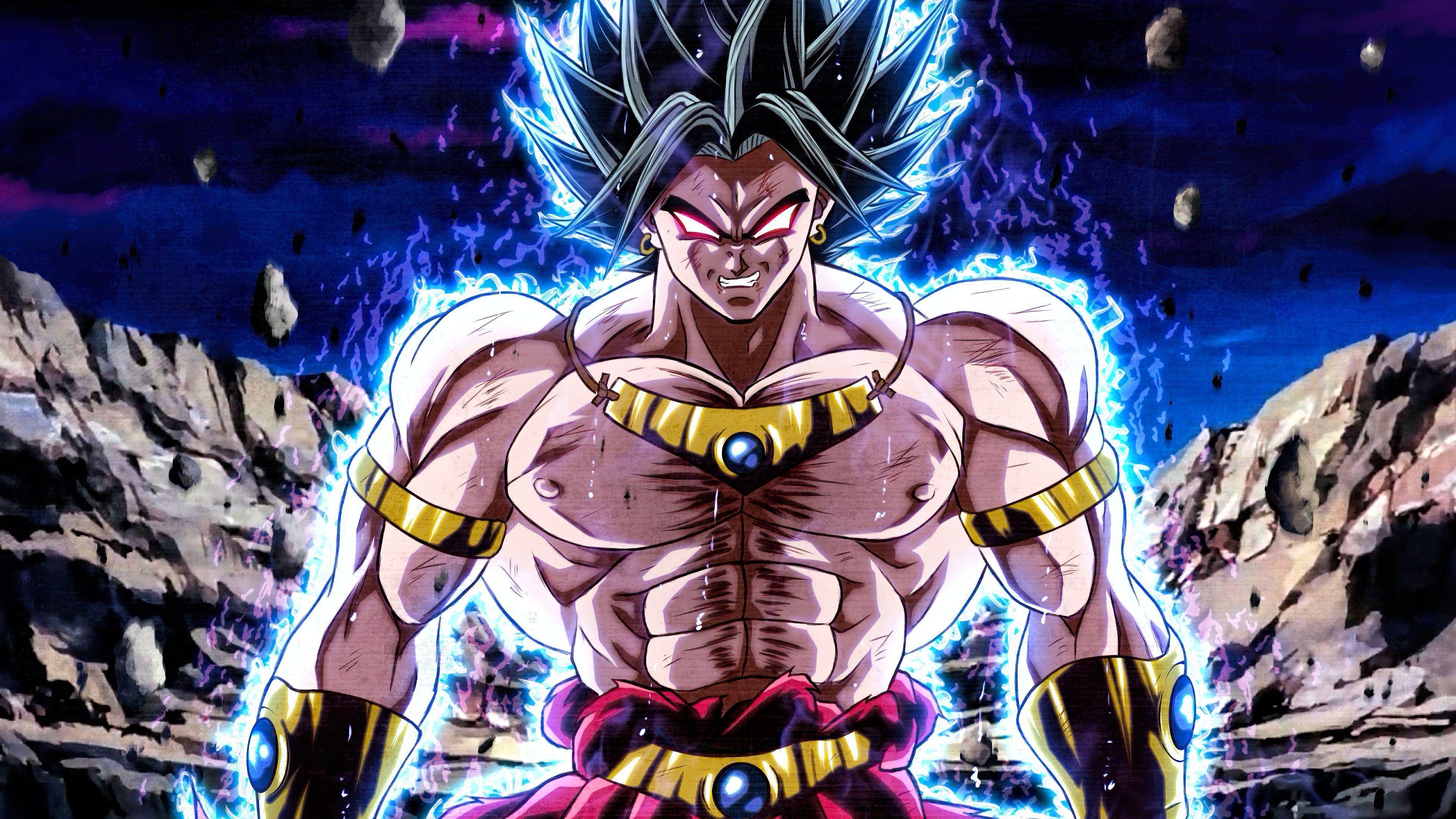 Broly, Ultra Instinct, Dragon Ball Super, Anime, 3840x2160