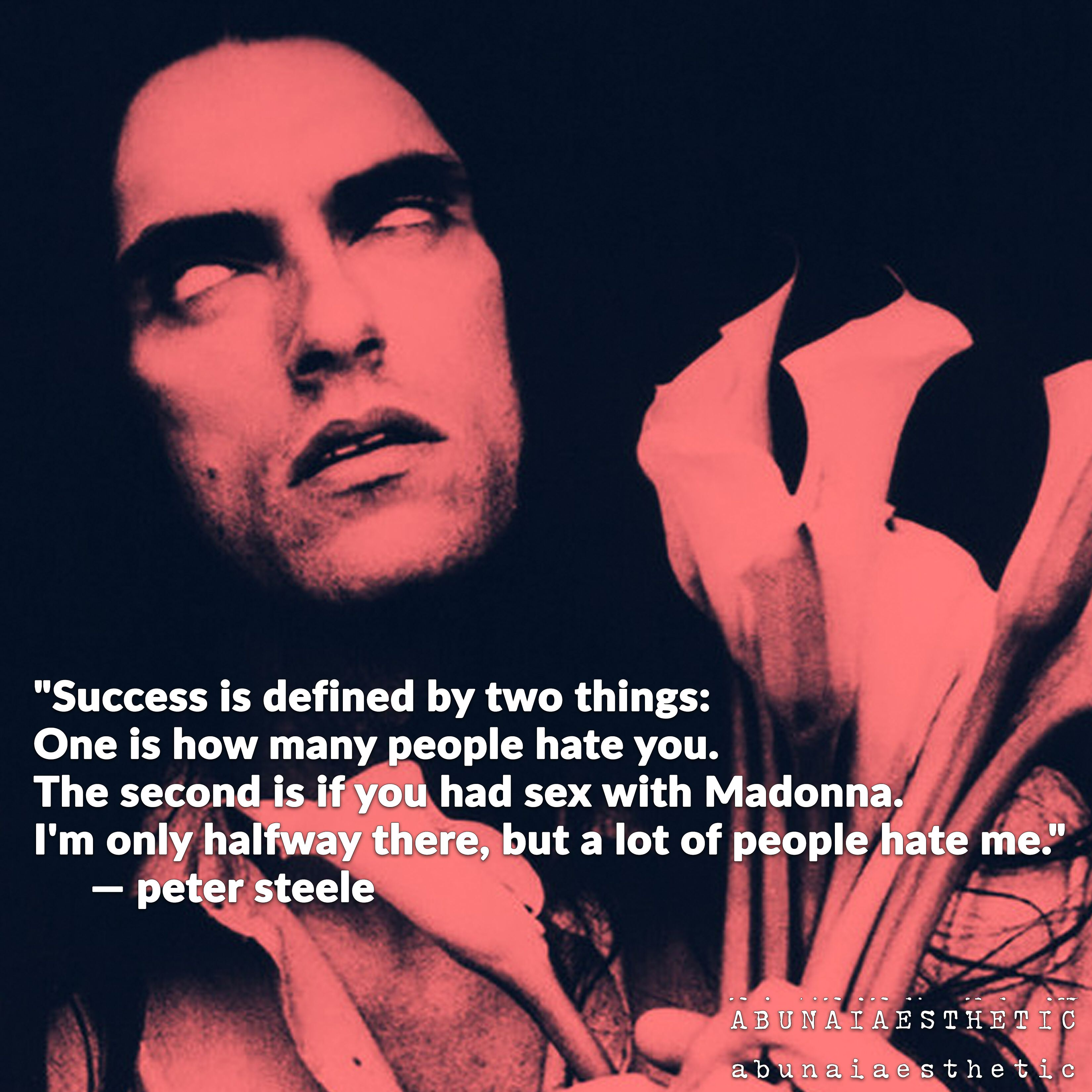 Peter Steele From Type O Negative Quote In 2020 Peter Steele Type O Negative Type O Negative Band