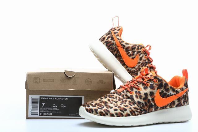 cbe95bd6282b ... running trainers uk womens wmns nike roshe run shoes leopard print  promo code cheap perfect nike roshe run london leopard womens tour orange  511882 511 ...