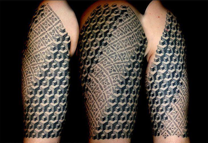 Belgium Artist Vincent Hocquet Has An Interesting Tattoo Technique That Looks Like Pointillism And Watercolor Painting