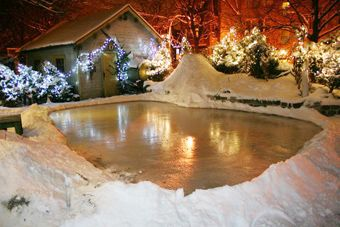 build your own backyard ice rink backyard ice rink side yards ice