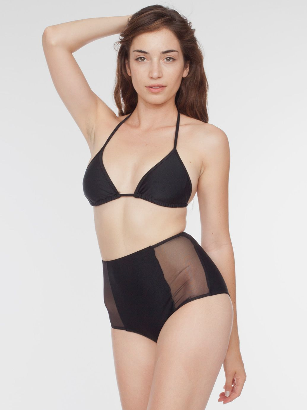 6a1314b337a73 American Apparel Micro-Mesh Nylon Tricot High-Waist Brief. Both swimwear  and a perfect styling piece!
