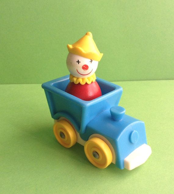 Fisher Price Circus ClownTrain figure 2 by GirlyStuffByDeJaVu, $9.75