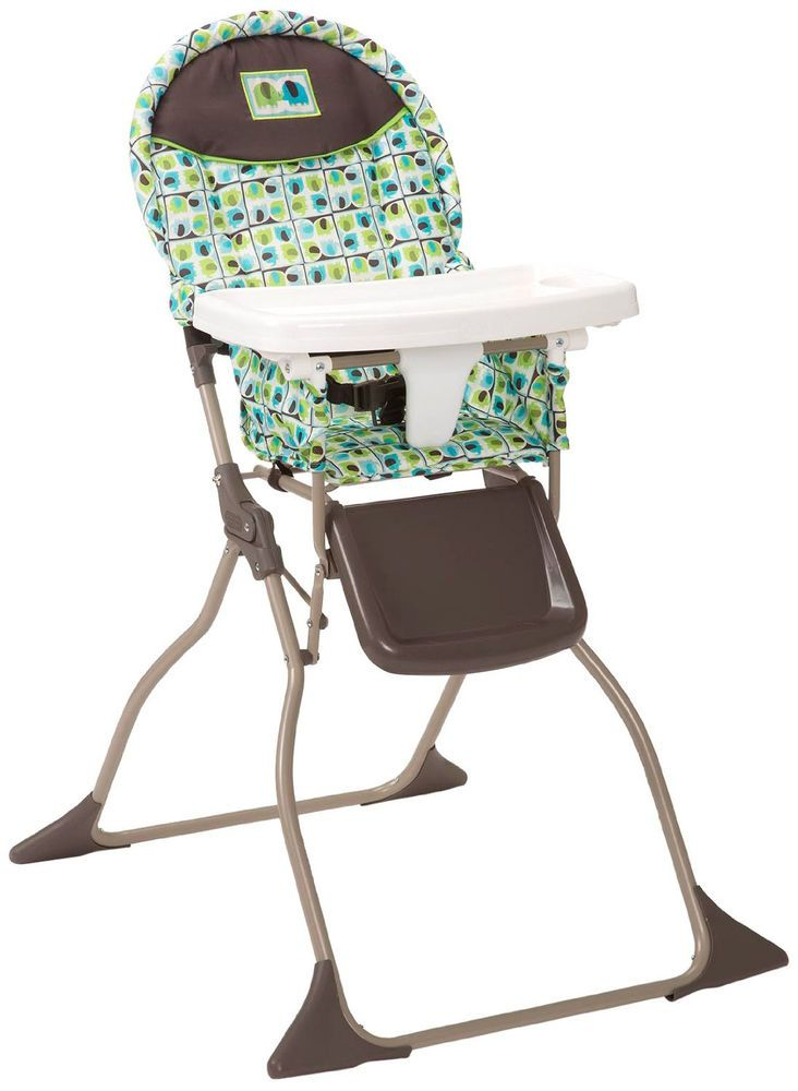 portable folding high chair suede office baby infant toddler feeding booster seat highchair cosco