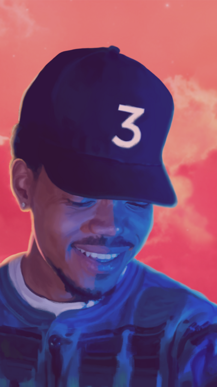Chance3 Iphone Wallpapers 750x1334 Iphone 6 6s Wallpapers Coloring Book Album Chance The Rapper Mixtape Cover