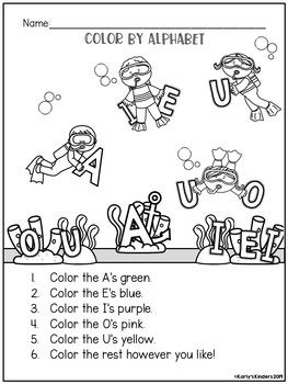 Color by Listening Academics: Alphabet (A Following