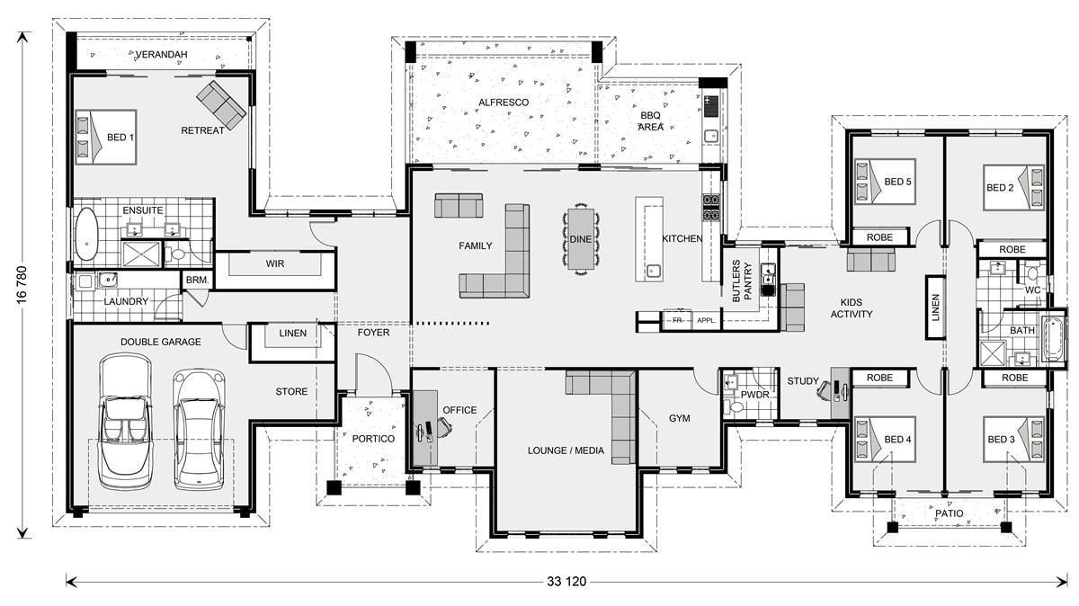 Rochedale 412 Prestige Home Designs In House Plans Australia 6 Bedroom House Plans Floor Plans