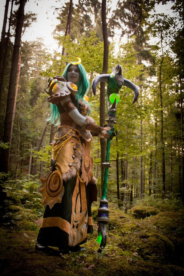 Cosplay of Druid Night Elf from World of Warcraft