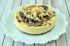 Chocolate Orange Swirl Cheesecake