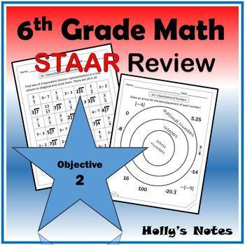 6th Grade Math STAAR Objective 2   Staar math, Staar ...