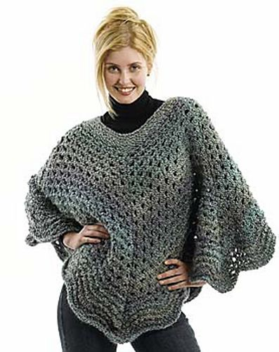 Martha Stewart Coming Home Poncho - Free Crochet Pattern - See http ...