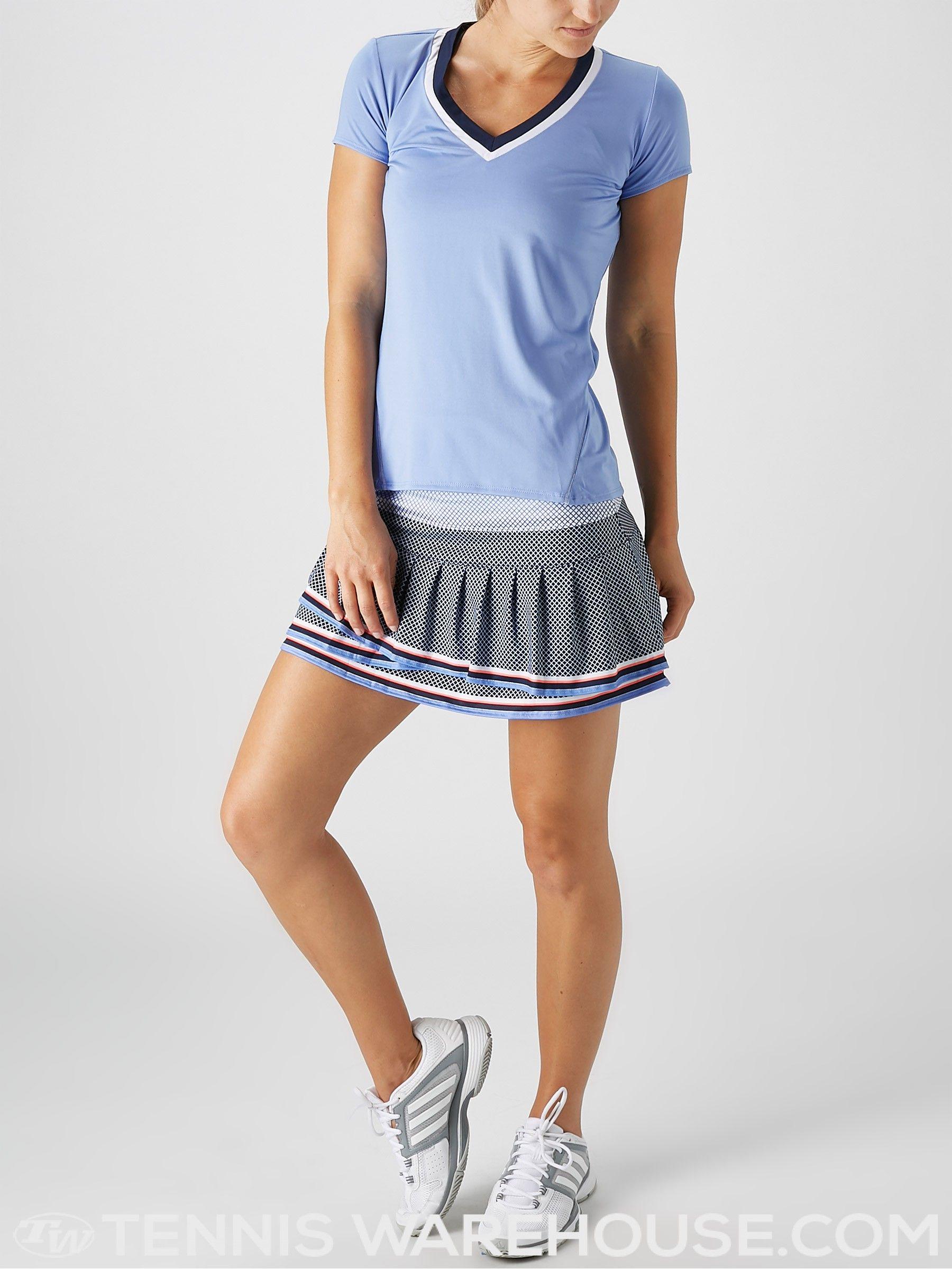 Lucky In Love Women S Vantage Varsity Cap Sleeve Women Tennis Wear Fashion