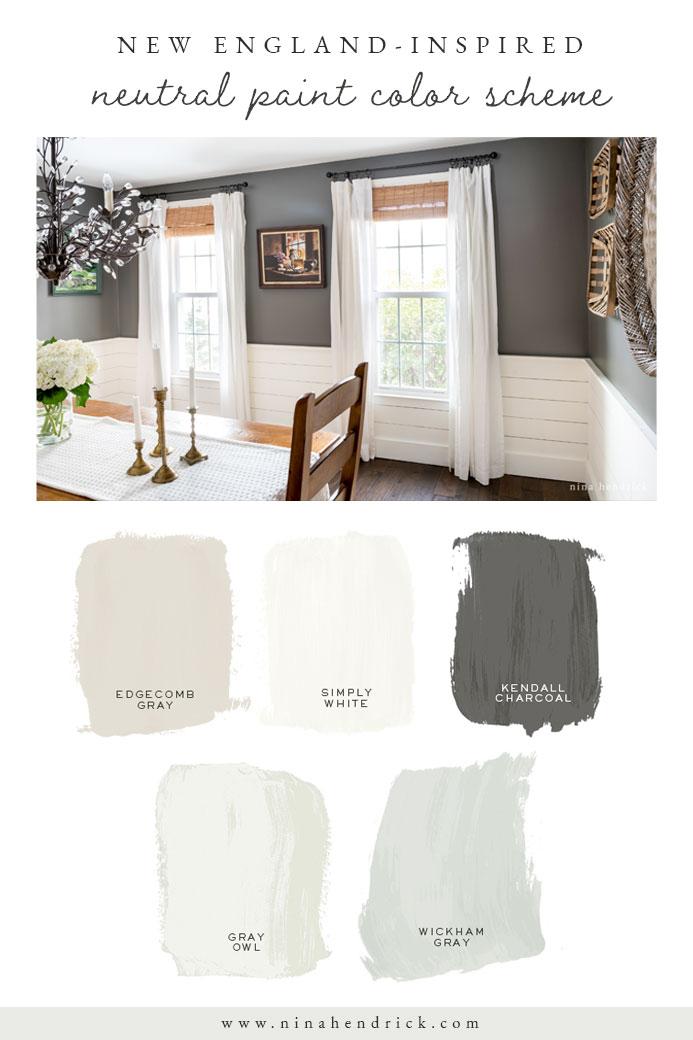 New England Neutral Paint Color Scheme