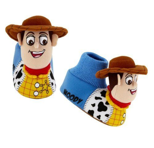Boys Disney Toy Story Woody Slippers Shoes Size