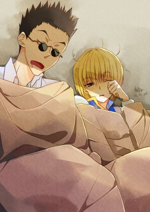 Leorio and Kurapika, aww kurapika looks cute!! And Leorio!  ~Hunter X Hunter
