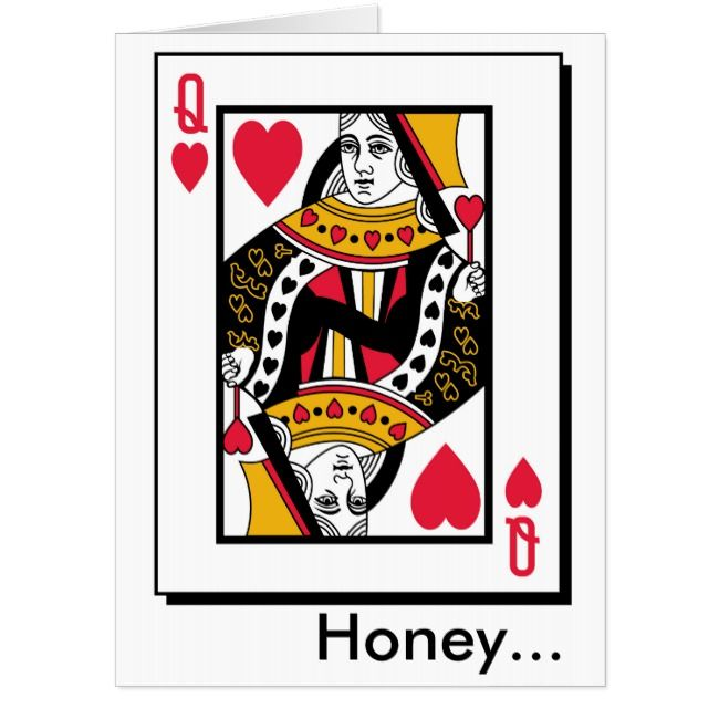 Queen of Hearts Giant Valentine's Day Card | Zazzle.com in ...