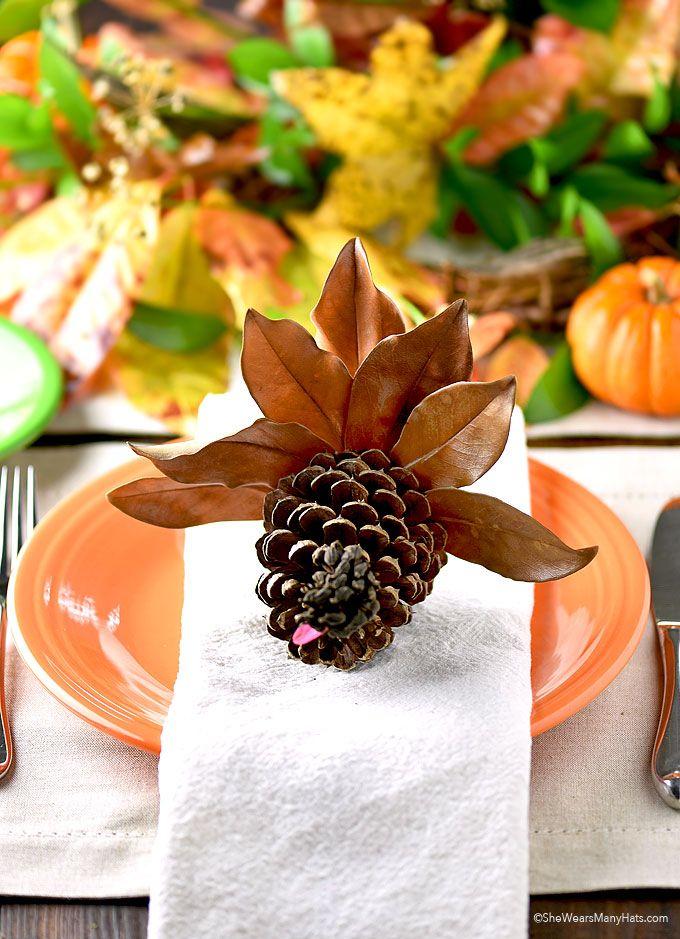 Thanksgiving Pine Cone Turkey Craft | http://shewearsmanyhats.com/thanksgiving-pine-cone-turkey-craft/