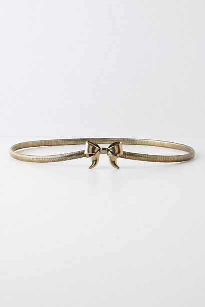 (via Precise Bow Belt - Anthropologie.com)