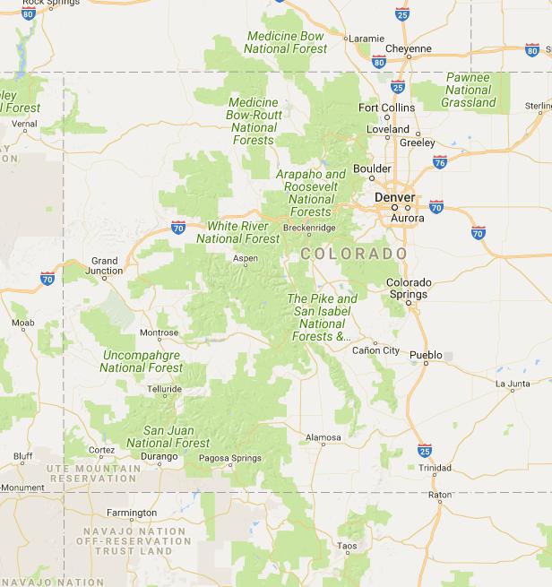 Colorado Hot Springs - Google My Maps | Colorado | Aspen ...