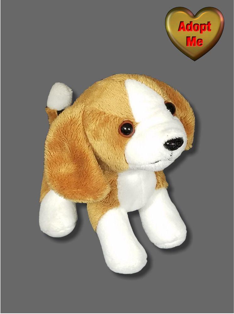 Black Brown White Beagle Puppy Dog Stuffed Plush Animal Toy Doll