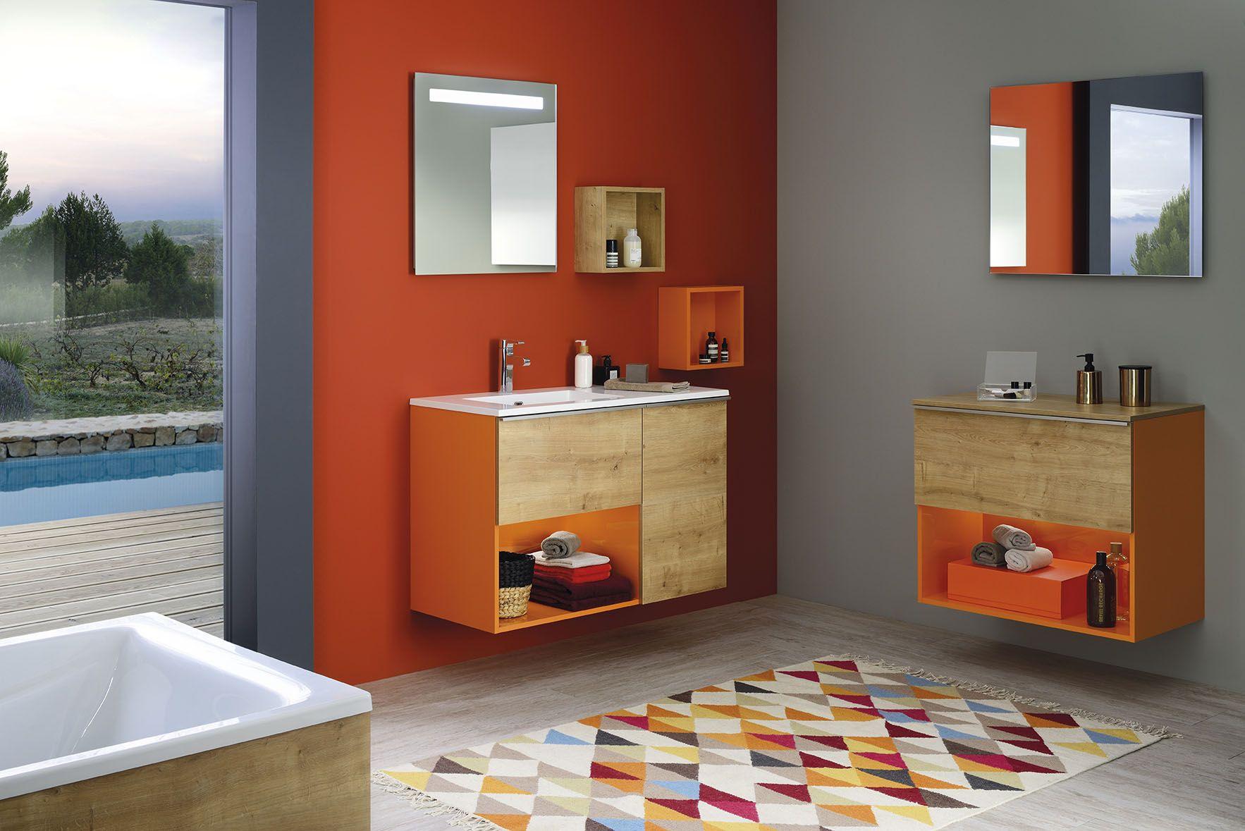 Tapis Original Pour Salle De Bain ~ 4 astuces pour une salle de bain color e un mur de couleur vive