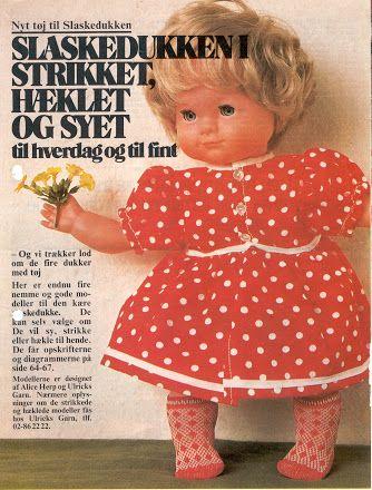 syede dukker med strikket tøj