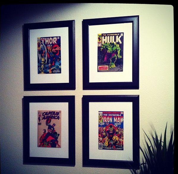 ten ways to make your walls look amazing love my children man cave comic room comic book rooms. Black Bedroom Furniture Sets. Home Design Ideas