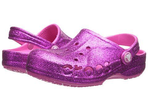 a3137ad0516e7 Crocs Kids Baya Hi Glitter (Toddler Little Kid) Vibrant Violet Fuchsia -  6pm.com