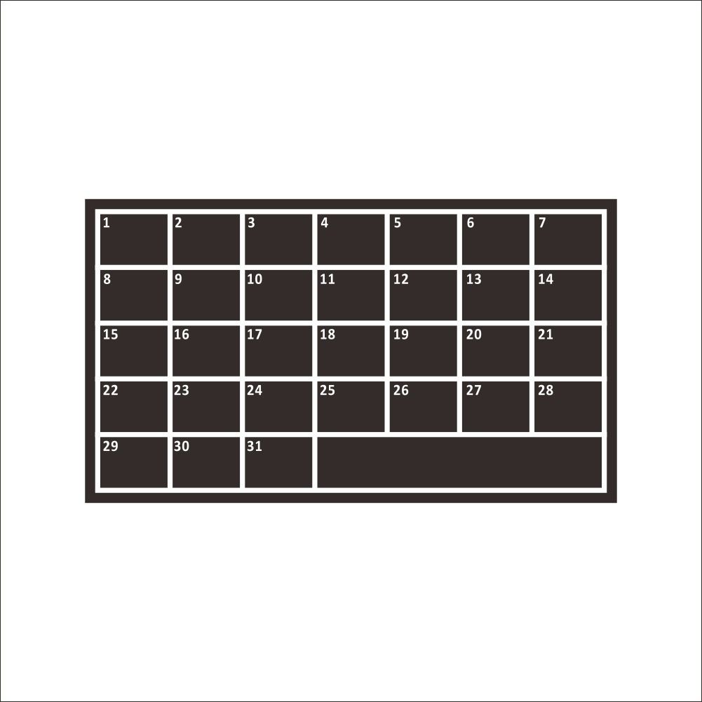 60105cm diy monthly chalkboard calendar wall sticker