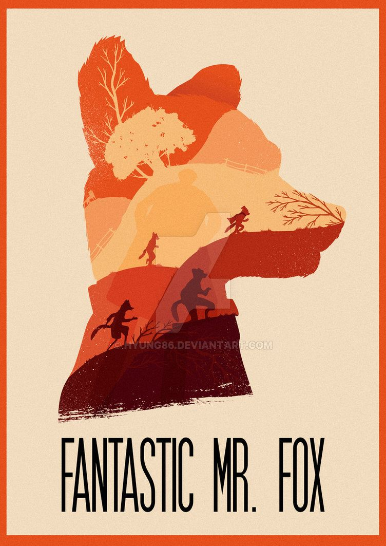 fantastic mr fox fox poster