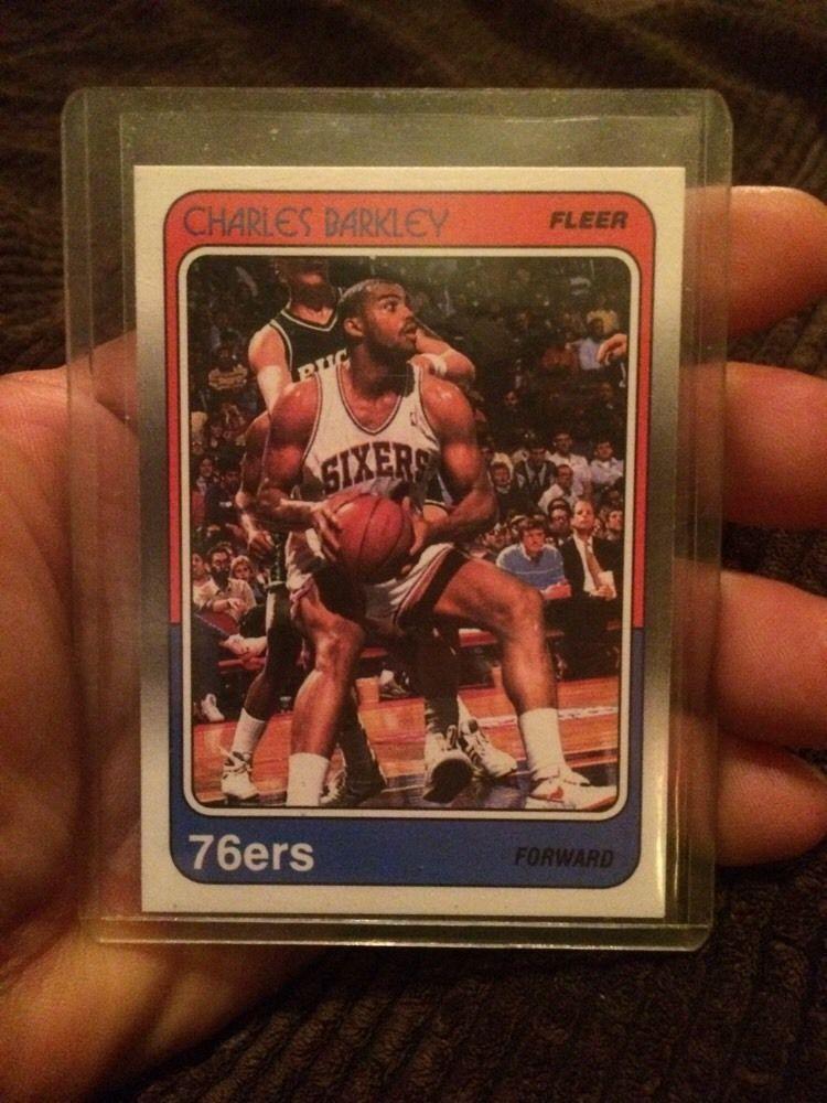 1988 fleer charles barkley basketball card from 30