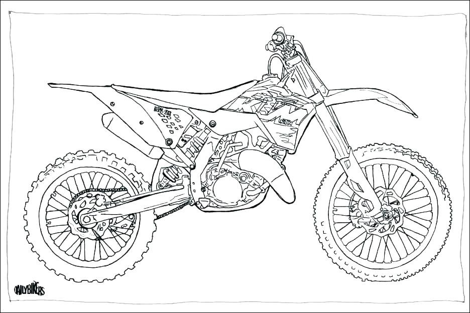 11 Authentique Motocross Dessin Collection